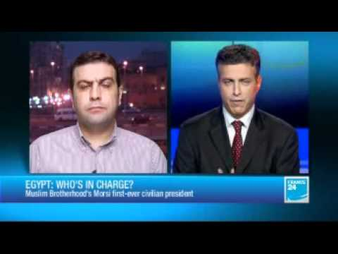 Muslim Brotherhood representative realizes he's on same show with Israeli, gets hysterical