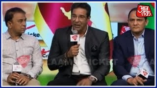 Sunil Gavaskar, Wasim Akram, Harbhajan Singh Leave Audience In Splits   Salaam Cricket 2018 - AAJTAKTV