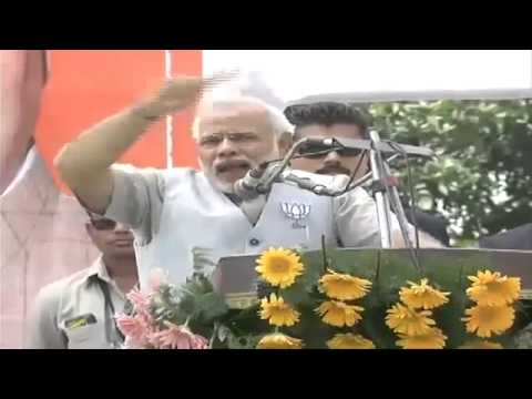 Shri Narendra Modi addressing a Public Meeting Bijnor  Uttar Pradesh 1