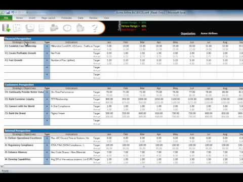 Webinar 1: Overview of Balanced Scorecard for Excel