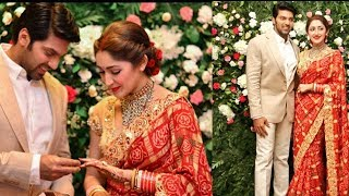 Arya and Sayyeshaa Saigal Wedding Reception at Chennai - Arya and Sayesha Saigal Recetion Photos - RAJSHRITELUGU