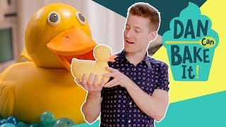 Rubber Ducky Cake 🛀 DAN CAN BAKE IT CHALLENGE #6 - FOODNETWORKTV