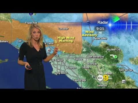 Evelyn Taft 2011/04/25 9PM KCAL9 HD; Tight black dress