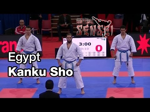 Egypt male team - Kata Kanku Sho - 21st WKF World Karate Championships Paris Bercy 2012