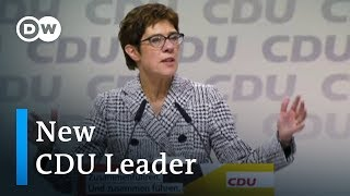 Kramp-Karrenbauer succeeds Merkel as CDU leader | DW News - DEUTSCHEWELLEENGLISH