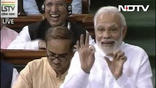 PM Modi Mocks Rahul Gandhi's Wink In Lok Sabha - NDTV