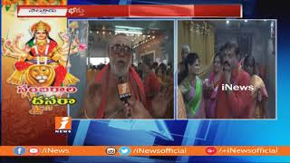 Devotees Huge Rush At Temples Over Vijayadashami Festival Celebrations In Nellore | iNews - INEWS