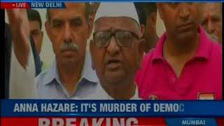 Anna Hazare is back with Lokpal push! Social activist goes on hunger strike in Delhi - NEWSXLIVE