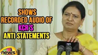 D. K. Aruna Shows Recorded Audio Of KCR's Anti Statements On HYD Metro Rail | Mango News - MANGONEWS