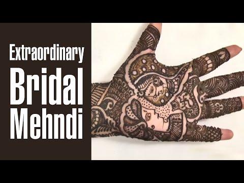 Extraordinary Bridal Mehndi Design For Wedding