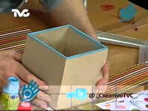 Cómo hacer una Caja Decorada 1a. Parte (EC)