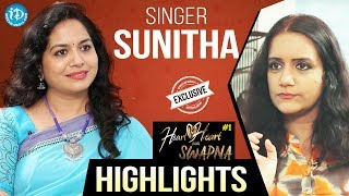 Singer Sunitha Exclusive Interview - Highlights    Heart To Heart With Swapna - IDREAMMOVIES