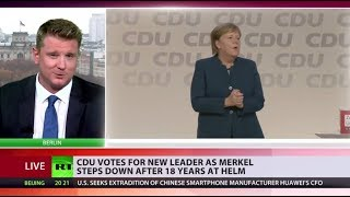 CDU votes for new leader as Merkel steps down after 18 years at helm - RUSSIATODAY