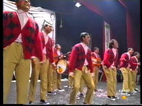 Sesión de Final, la agrupación Los lacios actúa hoy en la modalidad de Chirigotas.