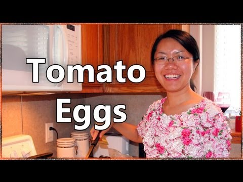 How to make Stir Fried Tomato Eggs 蕃茄炒蛋 - Authentic Chinese Recipe by Qiuhan