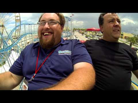 Ride the Sand Blaster at Daytona Beach with Show host Banks and Robb from Theme Park Review