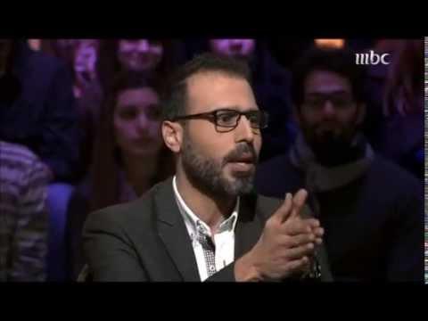 Ziad bourji asking saif al shekh najeeb a question in nawaret m3 arwa