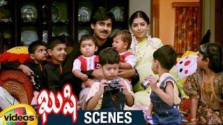 Pawan Kalyan and Bhumika's 17 Kids in Guinness Book | Climax Scene | Kushi Telugu Movie Scenes - MANGOVIDEOS