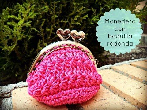 Monedero de ganchillo con boquilla redonda - Crochet purse :) Tutorial paso a paso