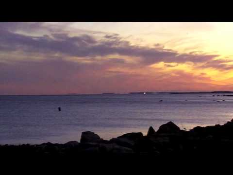 Rye NH Full Moon Rising at Rye Harbor State Park Ragged Neck video