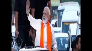 PM Modi holds Bhubaneswar roadshow amid 'Modi-Modi' chants - ABPNEWSTV