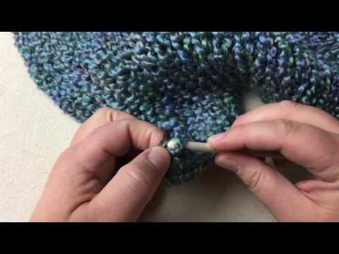Finish Anchor Yarn on loom knit panel - double knitting loom