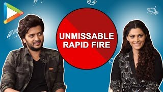 BLOCKBUSTER: Riteish Deshmukh & Saiyami Kher have lit up the rapid fire round - HUNGAMA