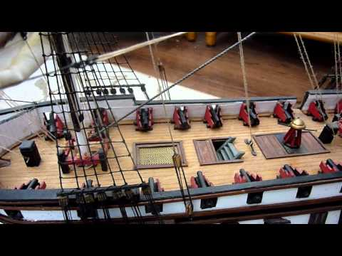 USS Constitution Wooden Model Boat Ship 32