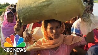 Drone Captures River Of Misery As Thousands Of Rohingya Flee Myanmar | NBC News - NBCNEWS