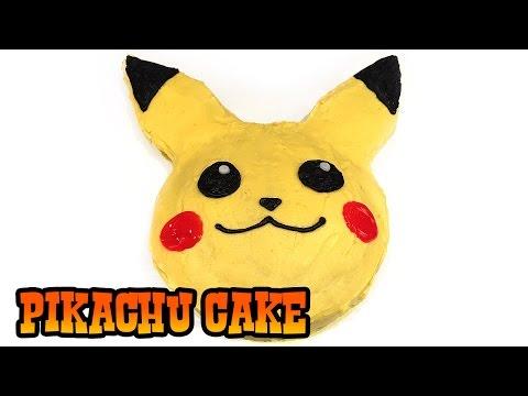 How to Make PIKACHU CAKE- Kids Baking Lesson