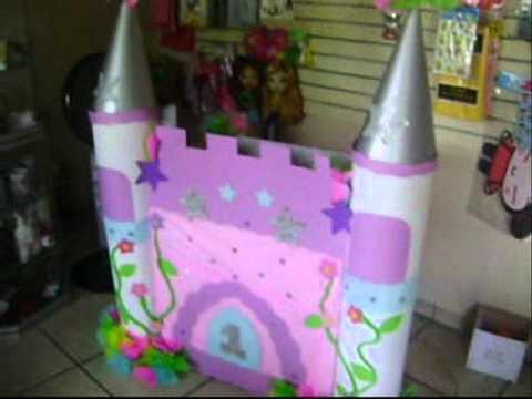Caja de regalo en forma de castillo de princesas - Imagui