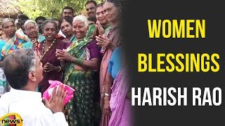 Harish Rao TRS Campaign In Gadwal District | Women Blessings Harish Rao | Mango News - MANGONEWS