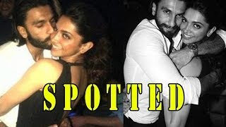 Deepika Padukone's night out with Ranveer Singh - ZOOMDEKHO