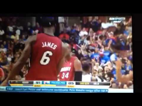 Ray Allen half-court buzzer beater 3rd quarter heat vs sixe