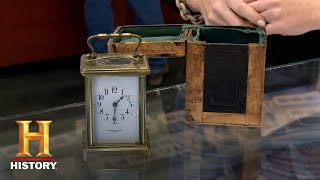 Pawn Stars: Stowell + Co French Brass and Glass Clock (Season 12) | History - HISTORYCHANNEL