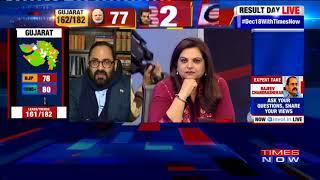Rajeev Chandrasekhar Talks About Congress Leading At 84; BJP At 76 - TIMESNOWONLINE