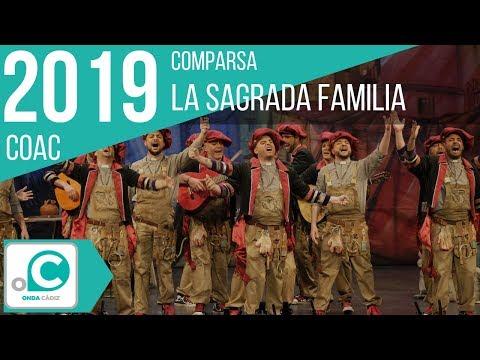 La agrupación La sagrada familia llega al COAC 2019 en la modalidad de Comparsas. Primera actuación de la agrupación para esta modalidad.