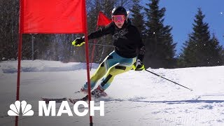 An Immersive Ski Simulator That Lets Olympic Skiers Train In Virtual Reality | Mach | NBC News - NBCNEWS