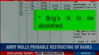 Army mulling abolishment of brigadier rank; NewsX accesses exclusive army document - NEWSXLIVE