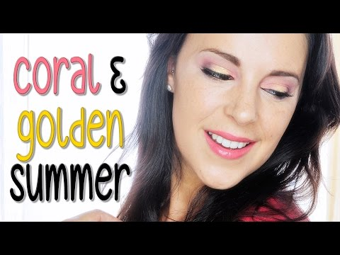 Coral and gold makeup for summer | Silvia Quiros