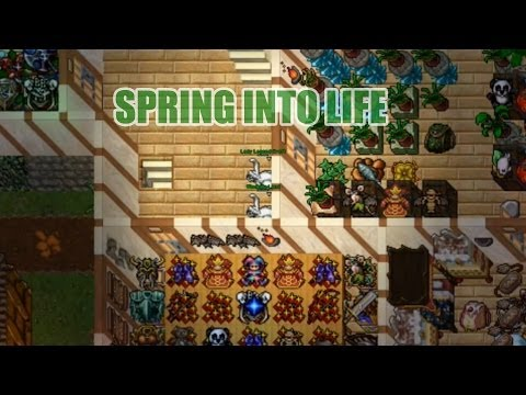 Spring into Life (caçando surprise nest) - Tibia
