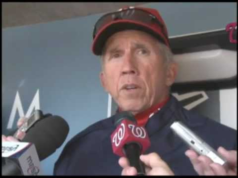 Davey Johnson speaks with the media about Bryce Harper's call up