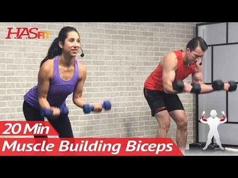 20 Min Home Bicep Workout with Dumbbells - Dumbbell Biceps Workout at Home Exercises Mass