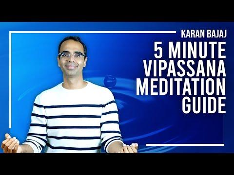How to Practice Vipassana Meditation in 5 minutes