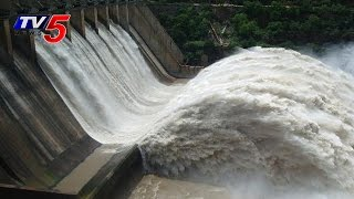Heavy inflows into Srisailam, Nagarjunasagar dams : TV5 News - TV5NEWSCHANNEL