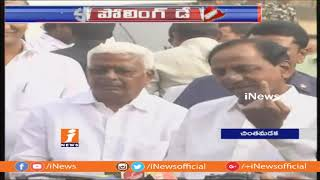 KCR And His Wife Casts Their Vote In Chintamadaka | Telangana Assembly Polling 2018 | iNews - INEWS