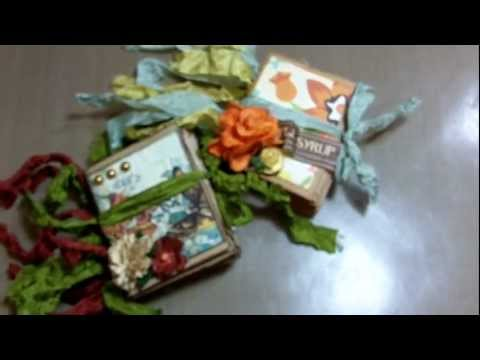 Micro paper bag mini album and binding tutorial! (Vid #372)