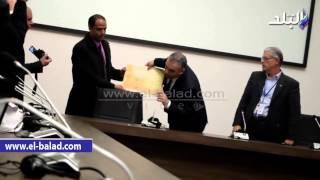 بالفيديو والصور.. مدير متحف الإبادة بأرمينيا يشكر الوفد المصري على وثيقة بورسعيد