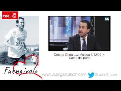 Debate Onda Luz Málaga. Datos del paro noviembre 2014