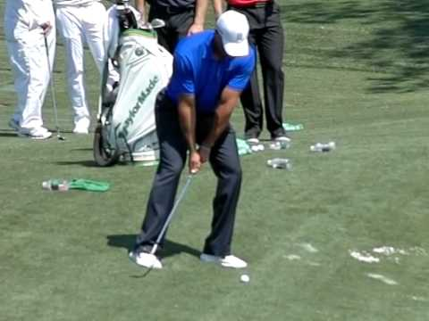 Tiger Woods Flop Shot 2012 Master's Practice Round